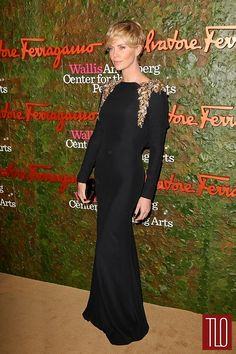 WERQ: Charlize Theron in Alexander McQueen at the Annenberg Center Gala | Tom & Lorenzo Fabulous & Opinionated