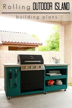 DIY rolling outdoor kitchen building plans