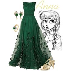 """Anna"" formal gown by alyssa-eatinger on Polyvore - Frozen"