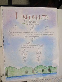 Waldorf ~ 7th grade ~ Math ~ Exponents - the Basics