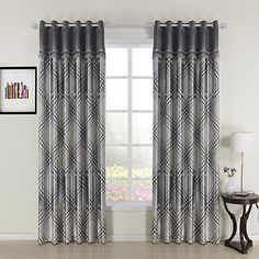 (One Panel) Plaid Check Pieced With Trims Print Room Darkening Curtain – USD $ 39.99