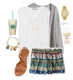 """""""IT WONT STOP RAINING OMG"""" by browneyedbeauty01 ❤ liked on Polyvore featuring T By Alexander Wang, Joie, Stella & Dot, Chanel, Alex and Ani, Honora, American Eagle Outfitters and Michael Kors"""