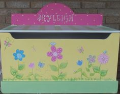 Custom Made Toy Chest Toy Box Toy Storage Toy Bin by spoiltrottn, $239.95