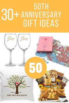 50th anniversary gift ideas that they will love, unique and personalized