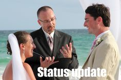 I now pronounce you husband and wife, now change your status!  #Facebook #weddings