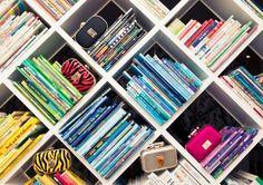 Kourtney Kardashian's home - bookcase idea