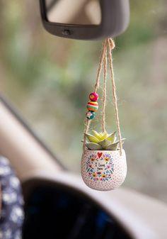 Self Love You Minimal Hanging Succulent Natural Life - I love you Mini Hanging . - Self Love You Minimal Hanging Succulent Natural Life – I love you Mini Hanging Succulent – nat - Hanging Succulents, Faux Succulents, Succulents Garden, Hanging Plants, Succulent Ideas, Diy Hanging, Succulent Pots, Hanging Baskets, Cute Car Accessories
