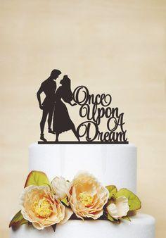 Wedding Cake Topper,Sleeping Beauty Cake Topper,Custom Cake Topper,Disney Style Cake Topper,Once upon a dream Cake Topper- P154