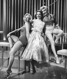 Marilyn Monroe, Betty Grable,and Laren Bacall and look at their SHOES, I'd wear all three!