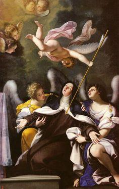Saint of the Day – 15 October – St Teresa of Jesus/of Avila Doctor of the Church Saint Teresa Of Avila, Catholic Art, Catholic Saints, Religious Art, Lives Of The Saints, St Therese, Jesus Art, Dutch Painters, Angels