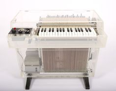 """The ultra-rare acrylic Mellotron M400! You've heard this one on the Beatles' """"Strawberry Fields Forever""""."""