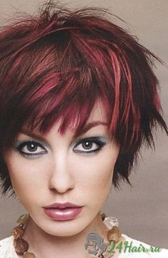 New Hair Red Highlights Brows Ideas Funky Short Hair, Short Hair Cuts, Short Hair Styles, Pixie Cuts, Trendy Hair, Short Razor Haircuts, Short Shag, Short Bangs, Pretty Hairstyles