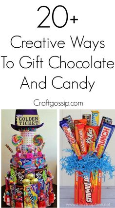 20 Creative Ways To Gift Candy – Edible Crafts Homemade Gift Baskets, Homemade Gifts, Diy Gifts, Food Gifts, Gift Card Bouquet, Candy Bouquet Diy, Candy Cards, Candy Gifts, Christmas Candy Crafts