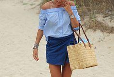 //Shirt H&M//Skirt Zara//Espadrilles Chanel//Bag from the local market//
