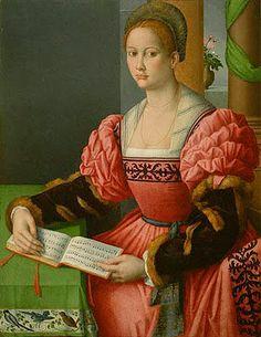 Francesco Ubertini Bachiacca II (1494-1557), Portrait of a Lady (1530). Oil on panel.