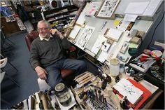 Joe Kubert, Comic Book Legend — xcyclopswasrightx: This is where art is made: ...