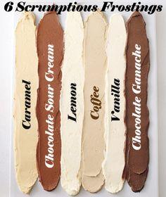 6 Scrumptious Frosting Recipes - MyThirtySpot More 323203710754922051 Cupcake Recipes, Cupcake Cakes, Dessert Recipes, Icing Recipes, Fondant Cakes, Köstliche Desserts, Delicious Desserts, Icing Frosting, Caramel Frosting