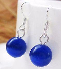 Jade - Blue Jade Drop Earrings
