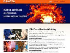 Clothing manufacturer web design by Fred Campbell www.northstar-website-design.com