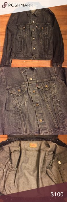"""Levis Vintage Denim Jean Jacket Rare 70506-0259 Item Details: • Used: In great condition, no rips or tears. Jacket has plenty of life left. • Size: 46R • Color: Grey  Measurements • Pit to Pit: 22"""" • Sleeve: 25"""" • Length: 23""""  Shipping & Handling: • Item will ship same or next business day after completed payment is received. This excludes weekends.  Note: This item is extremely rare to find in this size and condition. Everything is 100% authentic guaranteed or your money will be refunded in…"""