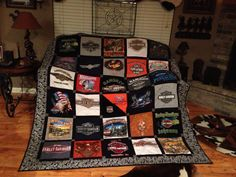 Harley Davidson quilt made out of T-Shirts #OrlandHarley #Harley #Orlando Harley-Davidson®