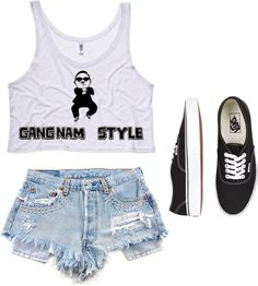 """""""Psy, Gangman Style."""" by briana-falwell ❤ liked on Polyvore"""