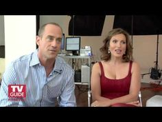 Mariska Hargitay and Chris Meloni TV Guide interview for Law & Order: SVU. I  think this is the goofiest I've seen them.