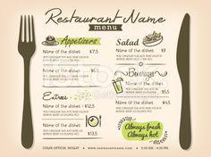 Design Set de table de Restaurant Menu Modèle de conception cliparts vectoriels… Menu Restaurant, Restaurant Menu Template, Restaurant Service, Menue Design, Food Menu Design, Menu Layout, Appetizer Salads, Appetizers, Coffee Menu
