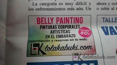 ANUNCIO PRENSA LOLA KABUKI/BELLY PAINT #painting #belly #pregnancy #pinturas #embarazo #anuncio #prensa