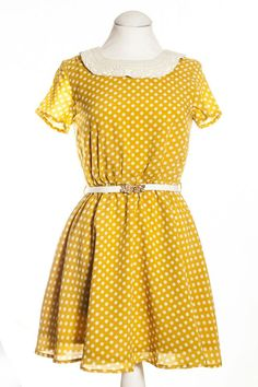 We love this polka dot print dress for Spring from Fount. The mustard colour is so bright and cheerful! £43