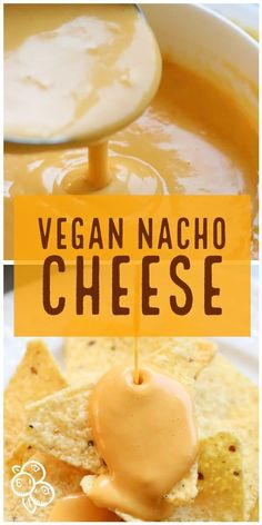 The Vegan Cheese Sauce you crave! Light on the cashews but still SUPER rich and creamy with a cheesy buttery flavor you won't be able to resist! #vegancheese #vegannacho #nachocheese