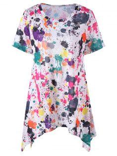 GET $50 NOW   Join RoseGal: Get YOUR $50 NOW!http://www.rosegal.com/plus-size-t-shirts/plus-size-splatter-paint-longline-1089149.html?seid=8569013rg1089149