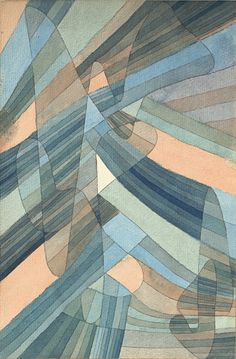"design-is-fine: "" Paul Klee, Polyphonic currents, Polyphone Strömungen, 1929. Watercolor & ink on paper © Kunstsammlung NRW Düsseldorf. """