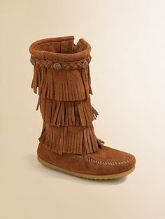 Minnetonka - Toddler's & Girl's Three-Layer Fringe Boots ...