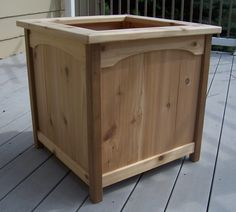 cedar planter made from fence boards