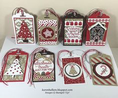 New Diy Christmas Tags Bookmarks Ideas Homemade Christmas Cards, Stampin Up Christmas, Noel Christmas, Christmas Paper, Christmas Wrapping, Handmade Christmas, Diy Christmas Gift Tags, White Christmas, Christmas Tables