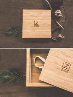 Premium packaging | Magnetic closure photo album wooden box Material:  MDF wood covered with bamboo veneer. https://www.facebook.com/zuriellstudio