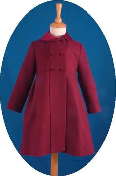 Children's traditional coats made in Spain by Rigans. A range of classic wool coats for girls and boys from 12 months to 12 years. Childrens Coats, Wool Coats, Single Piece, Kids And Parenting, Winter Coat, Kappor, Little Girls, Shoe Boots, Traditional