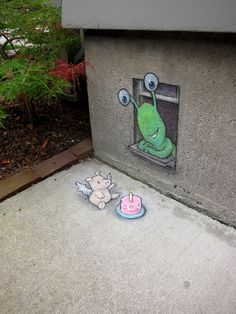 The 3D Chalk Art Adventures of Sluggo by David Zinn
