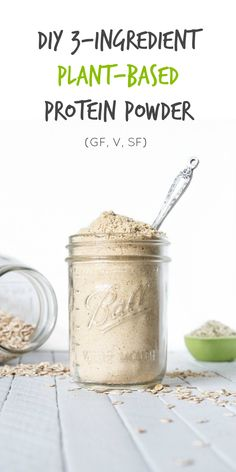 DIY 3 Ingredient Plant-Based Protein Powder - The Plant Philosophy - - Make your own vegan protein powder blend with the use of only 3 simple ingredients. Homemade Protein Powder, Vegan Protein Powder, Protein Powder Recipes, Organic Protein, Homemade Protein Shakes, Natural Protein Powder, Protein Powder Shakes, Diy Protein Shake, Protein Shake Recipes
