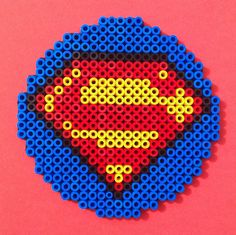 Superman hama beads coaster