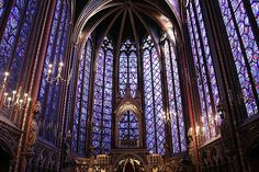Saint Chapelle, Paris - I could sit in here all day, such is its beauty