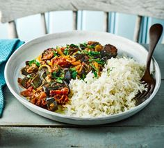 Roasted aubergine & tomato curry use reduced fat coconut milk. 8 syns for 1 cup