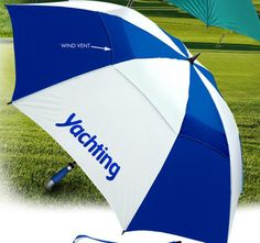 Tee Up at Your Next Trade Show These Golf-Related Promotional Products - Vented Golf Umbrella. Lots of space for your logo! | Newportpros.com