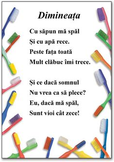Igiena personală - ghicitori despre obiectele de igienă și prezentare powerpoint. Materialele pot fi utilizate la dezvoltare personală. Educational Activities For Kids, Montessori Activities, Kindergarten Activities, Toddler Activities, Health Education, Kids Education, Preschool Writing, Kids Poems, School Humor