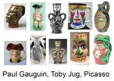 ecm* Paul Gauguin, Picasso, Bookends, Ceramics, Mugs, Tableware, Home Decor, Ceramica, Pottery