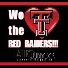 We LOVE the Texas Tech Red Raiders in Latino Lubbock Magazine