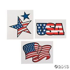 Don't just salute the flag, wear it! These fashionably fun party favors are the perfect all ages giveaway for any patriotic event. So fill your . Military Holidays, Saluting The Flag, Flag Tattoos, Tatoos, Oriental Trading, Just For Fun, Best Part Of Me, Fourth Of July, Independence Day