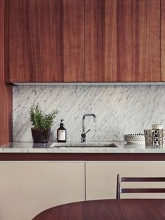 wood stone modern marble kitchen glimpse GLAMasculine accessory Japanese Trash masculine design obsession inspiration