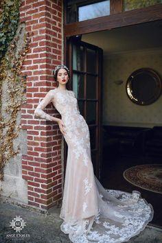Wedding dress ALMA, Wedding dresses A-line, Wedding dresses ball gown,  Wedding dresses Sleeves